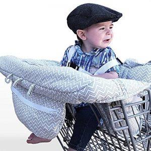 LeRan Réglable Bébé Supermarché Shopping Trolley Protège Siège Housse de chaise haute universelle pour tout-petits et housses de coussins panier avec sac transport, poussettes lavables organiseurs de la marque LeRan image 0 produit