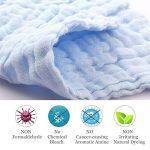 Les lingettes pour bébé en mousseline - Lingettes 100% coton naturelles pour bébé - Serviette douce pour le visage du bébé nouveau-né, pour peaux sensibles (5 PCS Pure Color) de la marque EEM image 1 produit