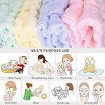 Les lingettes pour bébé en mousseline - Lingettes 100% coton naturelles pour bébé - Serviette douce pour le visage du bébé nouveau-né, pour peaux sensibles (5 PCS Pure Color) de la marque EEM image 3 produit