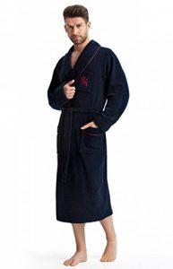 LEVERIE Peignoir de Bain Noble, élégant et de qualité pour Homme, fabriqué dans l'UE de la marque LEVERIE image 0 produit