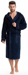 LEVERIE Peignoir de Bain Sportif, Moelleux/Peignoir Sauna Homme à Capuche avec liseré de la marque LEVERIE image 0 produit