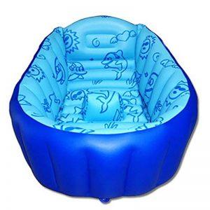 LFYZ Baignoire Gonflable pour bébé, Bassin de Douche Pliable avec siège Central Moelleux (Bleu) de la marque LFYZ image 0 produit