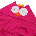 LHKJ 100% Coton Peignoir Hibou pour Enfants, Plage Capuche Serviette Soirée de Bain pour Bébé de la marque LHKJ image 4 produit