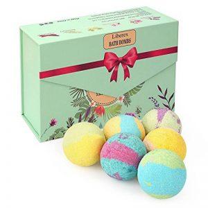 Liberex Boules de Bain Effervescentes - Kit de Bombes de Bain Multicolores Bio pour Homme Femme Enfant, Spa Luxueux, Bain Moussant Senteur Relaxante, 6X100G de la marque Liberex image 0 produit