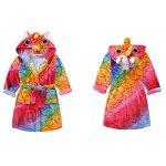 Licorne À Capuche Peignoir Robe de Chambre De Flanelle Garçons Filles Vêtements De Nuit Enfants Pyjama Automne Hiver de la marque XINNE image 2 produit