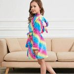 Licorne Peignoir pour Enfants Fille Garçon avec Capuche Vêtements De Nuit Pyjamas Robe de Chambre Serviette Doux 2-11Ans de la marque PENGMAI image 2 produit