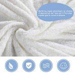 Lictin Serviette de Bain Bebe 100% Coton Serviette à Capuche Sortie de Bain Licorne Blanc pour Nouveau-Nés Ou Nourrissons Fille et Garçon 0-48 mois (75 * 75cm) avec 2pcs Coton Mouchoirs de la marque Lictin image 2 produit