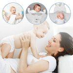 Lictin Serviette de Bain Bebe 100% Coton Serviette à Capuche Sortie de Bain Licorne Blanc pour Nouveau-Nés Ou Nourrissons Fille et Garçon 0-48 mois (75 * 75cm) avec 2pcs Coton Mouchoirs de la marque Lictin image 4 produit