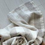 Linen & Cotton Super Douce Drap Serviette de Bain Marcus - 100% Lin Lavé, Beige Blanc Naturel (100 x 140 cm) Grande Taille Serviette d'Invité Serviettes de Toilette Douche Sauna pour Femme Homme Bebe de la marque Linen-Cotton image 3 produit