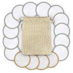 Lingette Démaquillante Lavable | 16 disques démaquillants bambou | Coton Demaquillant Lavable | Tous types de peau | Disque démaquillant lavable bio | Pads Démaquillant Réutilisable | Bambaw de la marque Bambaw image 3 produit