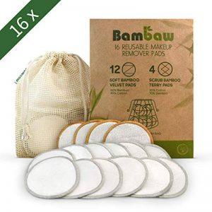 Lingette Démaquillante Lavable | 16 disques démaquillants bambou | Coton Demaquillant Lavable | Tous types de peau | Disque démaquillant lavable bio | Pads Démaquillant Réutilisable | Bambaw de la marque Bambaw image 0 produit