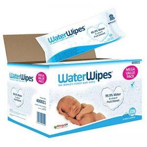 Lingettes bébé pour peaux sensibles WaterWipes, 12 Paquets de 60 (720 Lingettes) de la marque WaterWipes image 0 produit