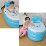 LINGZHIGAN Les enfants bleus de baignoire gonflable épaississent les matériaux environnementaux de Bath de Bath d'adulte de baignoire d'isolation de baignoire deux tailles peuvent choisir de la marque Baignoire gonflable image 4 produit