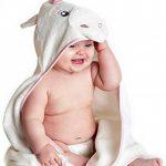 Little Tinkers World Serviette à capuche bébé Licorne | Serviette de bain en coton 100% bébé | Cadeau de fête d'anniversaire idéal | Nouveau-nés ou bébés filles | 75x75cms de la marque Little-Tinkers-World image 2 produit