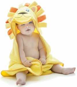 Little Tinkers World Serviette À Capuche Lion Extra Douce Pour Bébé - Serviette De Bain Pour Bébé 100% Coton - Parfaite Cadeau Fête Prénatale - Nouveau-Nés Ou Nourrissons Filles Et Garçons de la marque Little-Tinkers-World image 0 produit
