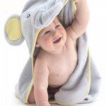 Little Tinkers World Serviette à capuchon pour bébé éléphant - 100% coton bébé serviette de bain - parfait cadeau fête d'anniversaire - les nouveau-nés ou les nourrissons filles et garçons de la marque Little-Tinkers-World image 4 produit