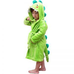 LOLANTA Robe de Chambre Garçon Peignoir de Bain Robe de Nuit Enfants éléphant de Dinosaure,Cadeau d'anniversaire de la marque LOLANTA image 0 produit