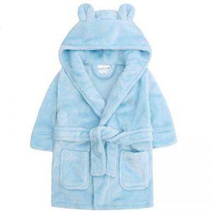 Lora Dora bébé garçon Polaire à capuche Peignoir doux Peignoir de bain Taille 6–24mois de la marque Lora-Dora image 0 produit