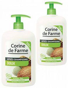 Lot de 2 Après-shampooings Doux tous types de Cheveux 750 ml de la marque Corine-de-Farme image 0 produit