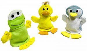 Lot de 3 gants de toilette en forme de canard, pingouin, grenouille de la marque Minis Kreativ image 0 produit