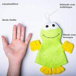 Lot de 3 gants de toilette en forme de canard, pingouin, grenouille de la marque Minis Kreativ image 4 produit