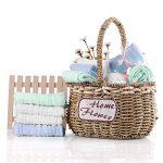 Lot de 5 débarbouillettes en coton mousseline pour bébé - lingettes en coton naturel en mousseline, cadeau de shower de bébé doux pour le visage du bébé nouveau-né (30x30cm) de la marque YIQI image 2 produit