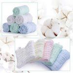 Lot de 5 débarbouillettes en coton mousseline pour bébé - lingettes en coton naturel en mousseline, cadeau de shower de bébé doux pour le visage du bébé nouveau-né (30x30cm) de la marque YIQI image 1 produit