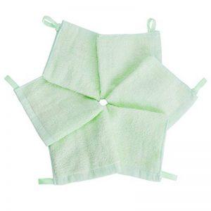 Lot de 6 gants de toilette super doux 25/25 cm bébé 100% coton de bambou de la marque FUTURE-FOUNDER image 0 produit