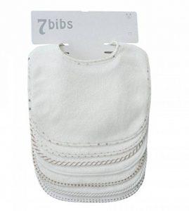 Lot de 7 bavoirs double épaisseur pour bébé en coton doux et absorbant (white) de la marque Shinningstar image 0 produit