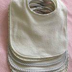 Lot de 7 bavoirs double épaisseur pour bébé en coton doux et absorbant (white) de la marque Shinningstar image 2 produit