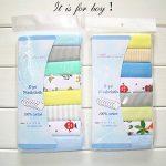 Lot de 8Gants de Toilette en mousseline de naissance d'allaitement en coton doux Serviettes de la marque Busy Mom image 1 produit