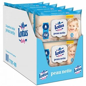 Lotus Baby Peau Nette - Lingette bébé - 12 paquets de 64 lingettes de la marque lotus-Baby image 0 produit