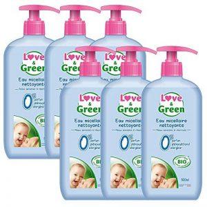 Love & Green Eau Micellaire Nettoyante Bio 0% 500 ml - Lot de 6 de la marque Love-Green image 0 produit