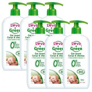 Love & Green Gel Lavant Corps/Cheveux Bio 0% 500 ml - Lot de 6 de la marque Love-Green image 0 produit