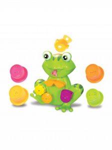 LUDI - Coffret de jeux d'eau pour le bain : grenouille, moulins, verres gigognes percés, coupelle. Dès 12 mois. Fixations ventouses - réf. 2246 de la marque Ludi image 0 produit