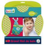 LUDI - Grand filet de rangement pour les jouets de bain. Fixations ventouses solides. Panier de basket pour la douche - réf. 40002 de la marque Ludi image 3 produit