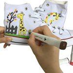 Luxbon 12PCS Double Pointe Marqueur en Tissu Textiles Pigment Bien Permanent Graffiti Coloration Enfant sûr Non Toxique de la marque Luxbon image 4 produit