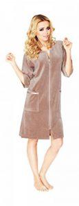 Luxe Femme Coton Peignoir Longueur Genou A Manches Courtes Et Fermeture Eclair de la marque Wanmar image 0 produit