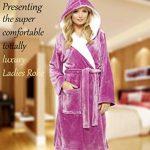 Luxury Dressing Gown Mesdames Robe Super Douce avec Fourrure Doublée À Capuche en Peluche Peignoir pour Les Femmes-Cadeau Parfait de la marque CityComfort image 2 produit