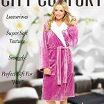 Luxury Dressing Gown Mesdames Robe Super Douce Avec Fourrure Doublée À Capuche En Peluche Peignoir Pour Les Femmes-Cadeau Parfait (S, rose) de la marque CityComfort image 1 produit