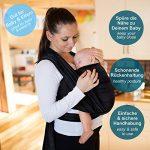Makimaja - Écharpe de portage noir - porte-bébé de haute qualité pour nouveau-nés et bébés jusqu'à 15 kg - en coton doux - incl. sac de rangement et bavoir bébé de la marque Makimaja image 1 produit
