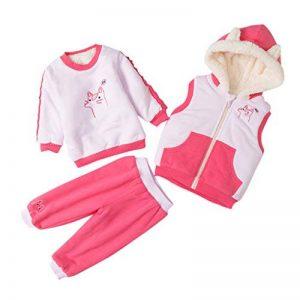 manadlian Ensemble 3 Pièces Haut Coton Chaud Pantalon avec Gilet Blousons en Coton Bébé Unisexe Combinaisons Infantile de la marque manadlian image 0 produit