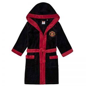 Manchester United FC Officiel - Robe de Chambre à Capuche thème Football - Polaire - garçon de la marque Manchester-United-F-C image 0 produit