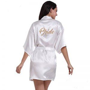 Mariée Robes de Chambre et Kimonos Estampage à chaud Satin de la marque BOYANN image 0 produit