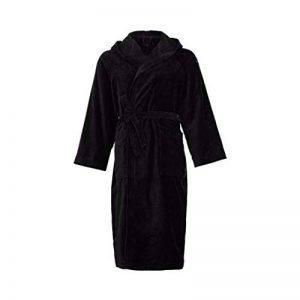 Marigela Peignoir en éponge pour Homme et Femme avec Capuche Taille S/M - L - XL - XXL Éponge 100% Pur Coton L(50-52) Noir de la marque Marigela image 0 produit