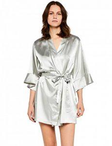 Marque Amazon - Iris & Lilly Satin Ruffle Midi Kimono Femme de la marque Iris-Lilly image 0 produit