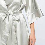 Marque Amazon - Iris & Lilly Satin Ruffle Midi Kimono Femme de la marque Iris-Lilly image 3 produit