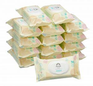 Marque Amazon - Mama Bear Soft Lingettes légèrement parfumée pour bébé - Pack de 15 (840 lingettes) de la marque Mama-Bear image 0 produit
