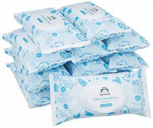 Marque Amazon - Mama Bear Ultra Sensitive lingettes sans parfum pour bébé - Pack de 12 (720 lingettes-Tissu 100% biodégradable ) de la marque Mama-Bear image 0 produit
