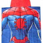 Marvel Poncho de Bain Poncho Spider-Man avec Capuche Rouge Super-héros Rouge-Bleu, 50 x 115 cm, 100% Coton, pour Enfants de la marque Marvel+Spiderman image 1 produit
